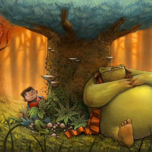 Trevor The Troll Picture Book Illustration