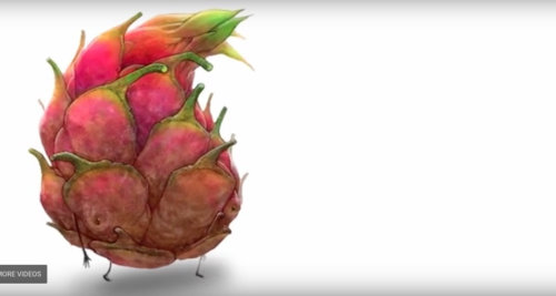 Children book Graphic animation of Rotten Fruit Friends