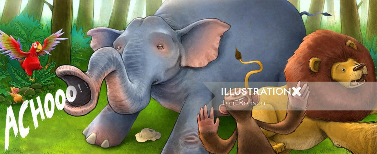 Digital Art Drawing of Animals