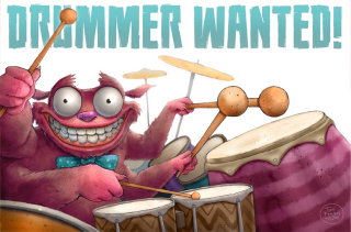 Monster Playing the Drum