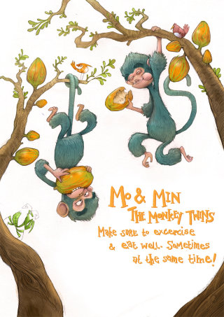 Character Design of The Monkey Twins