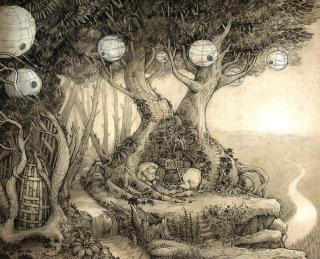 Troll Den Drawing By Tom Bonson