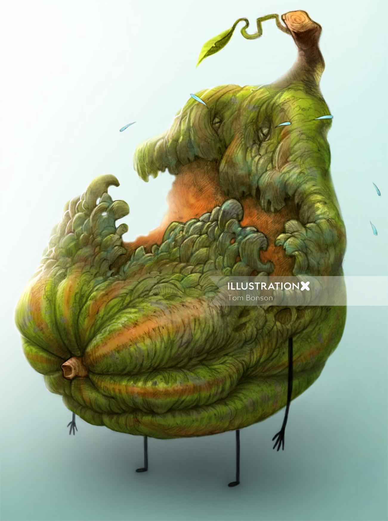 Cartoon & Humor of a fruit