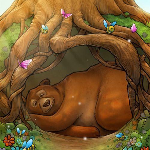 children sleeping bear