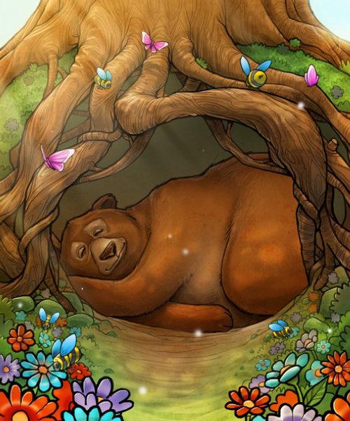enfants endormis ours