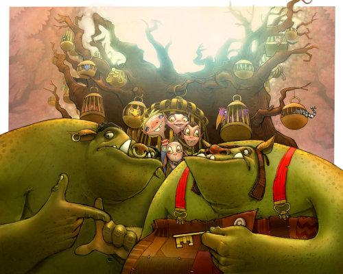 conception de personnages pour enfants de monstres