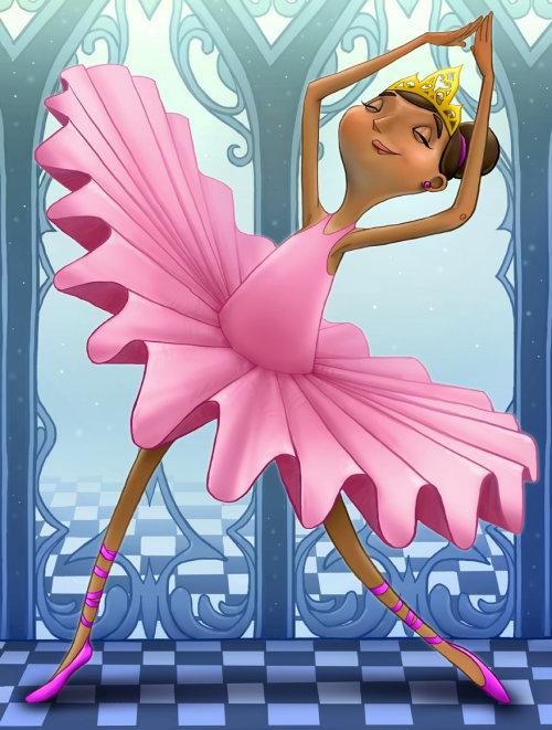 Fille de beauté dansant avec couronne