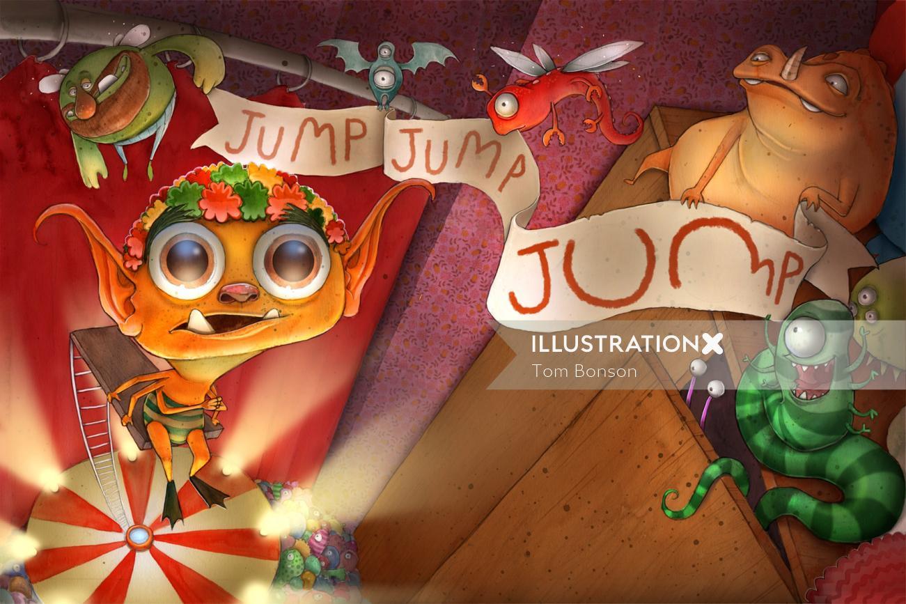 Cartoon & Humor Jump Jump