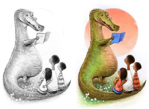 Enseignant de dinosaures pour enfants