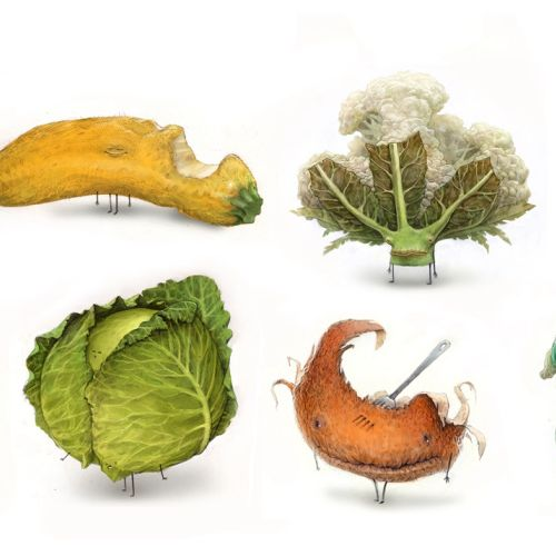 Vegetable character illustration