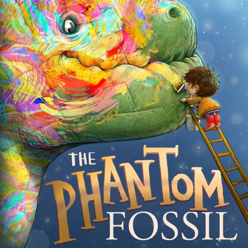Book cover design of he Phantom Fossil