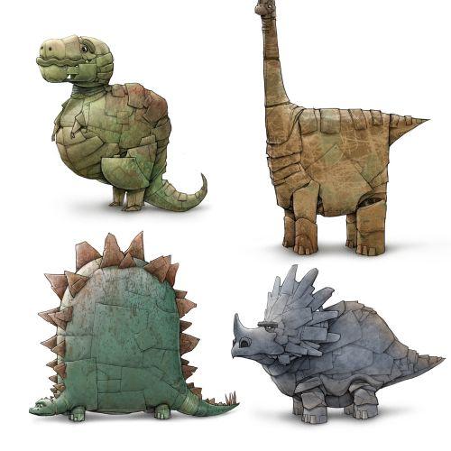 Character design and children animals