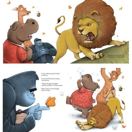 Digital animals book page