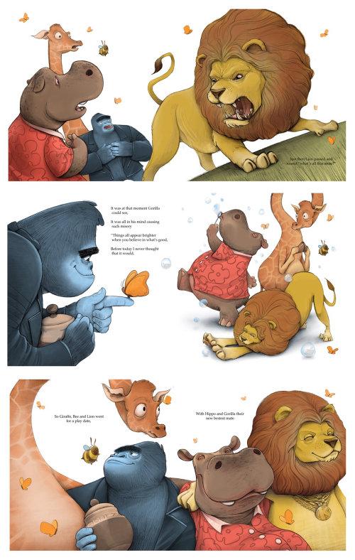 Page de livre d'animaux numériques