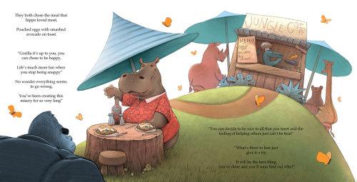 Page de livre de déjeuner Animaux Rhino