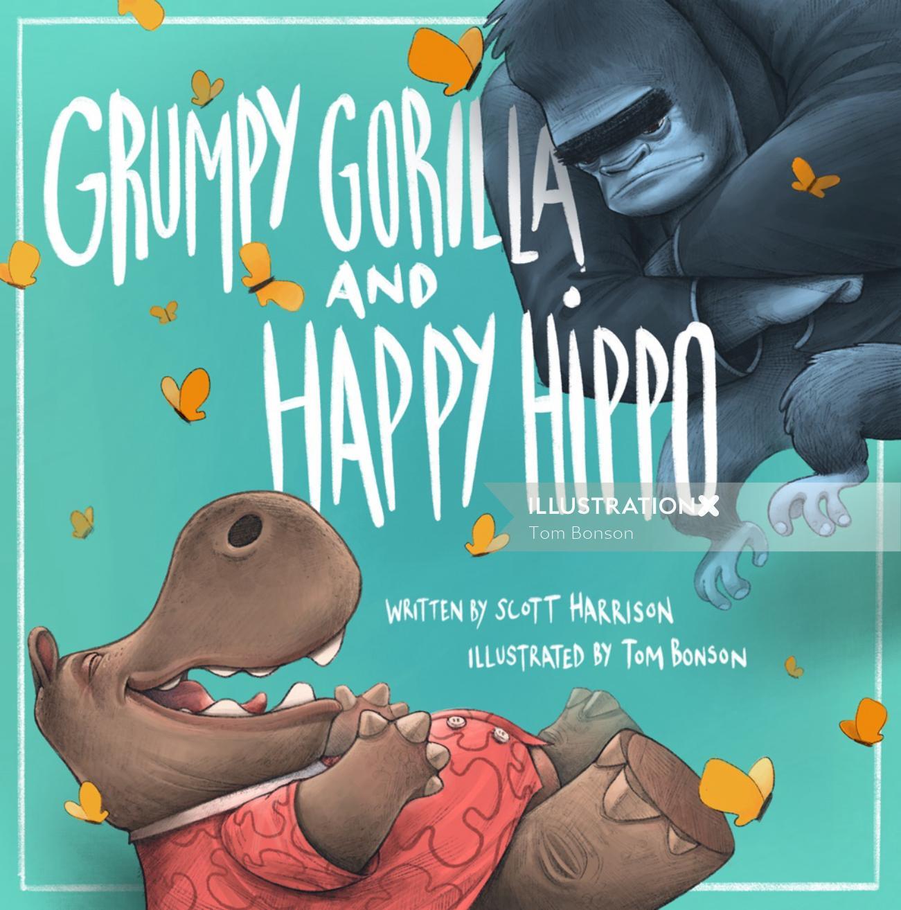 Grumpy Gorilla happy hippo book covers