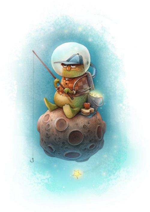 Illustration de jeu de pêche homme
