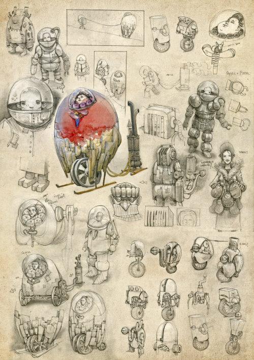 Illustration numérique de machines