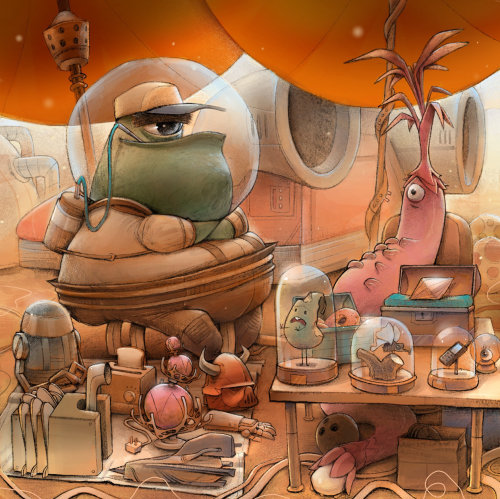 Cartoon & Humour ville extraterrestre