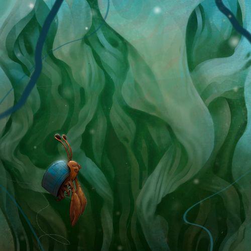 Character design underwater creatures