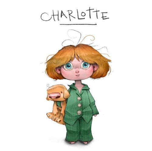 Character design Charlotte girl
