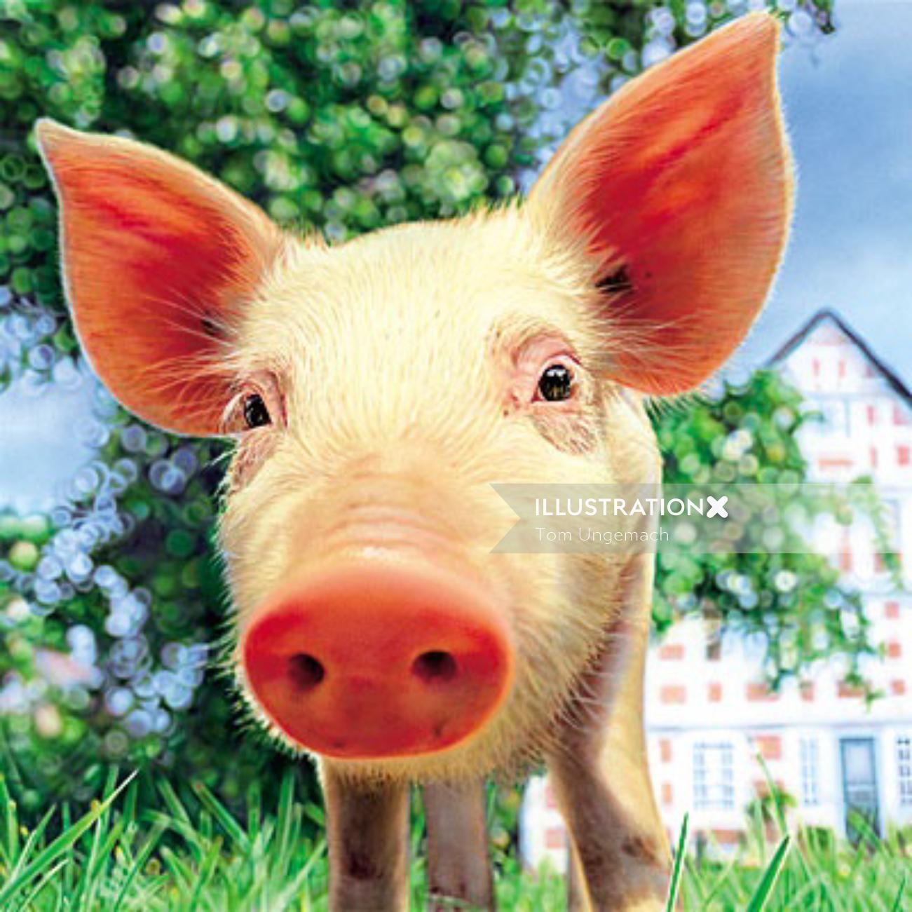 Animals Pig character