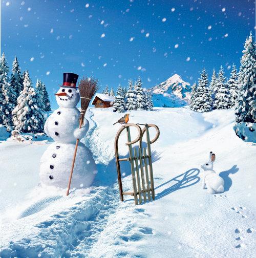 Bonhomme de neige photoréaliste
