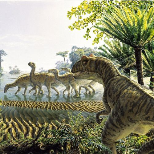 Photorealistic illustration of Dinosaurier