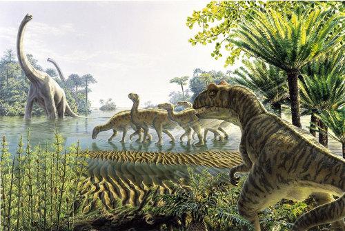 Illustration photoréaliste de Dinosaurier