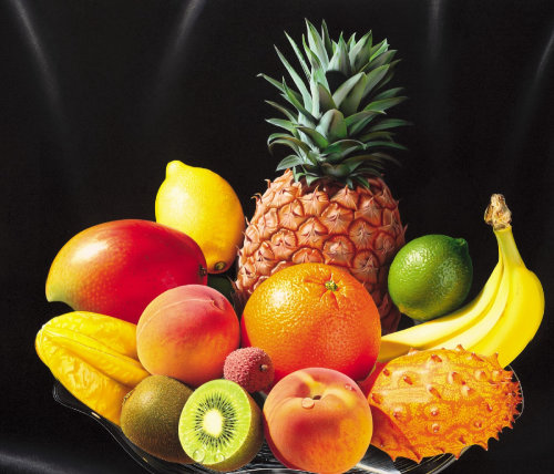 Illustration photoréaliste de fruits