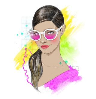 portrait of a woman with stylish eye wear