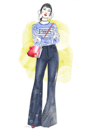 Statement pants Illustration for The Art of Fashion Journal by Eila Mell