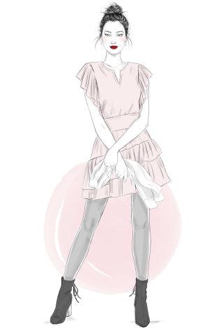 Illustration of Stitchfix girl 2