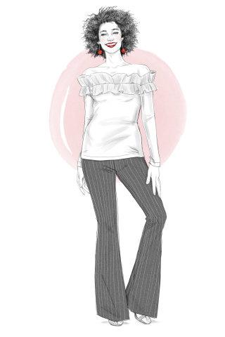 Illustration of Stitchfix Girl 3