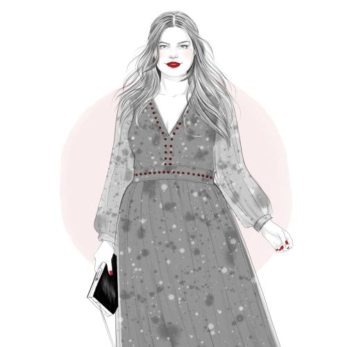 Illustration of Stitchfix girl 4
