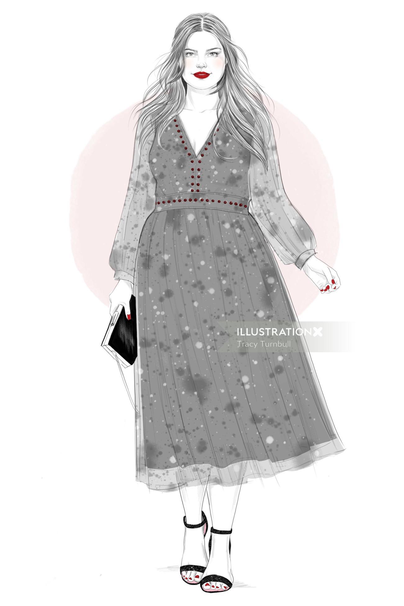 Illustration of Stitchfix girl 4