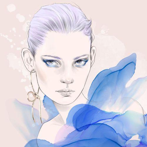 Tracy Turnbull International Fashion & Beauty illustrator. UK