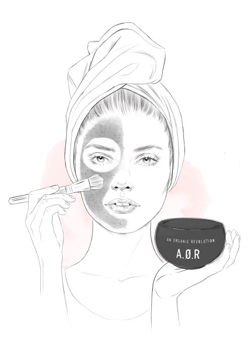 Aor makeup kit fashion illustration