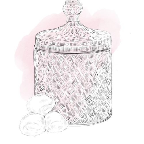 illustration of crystal jar