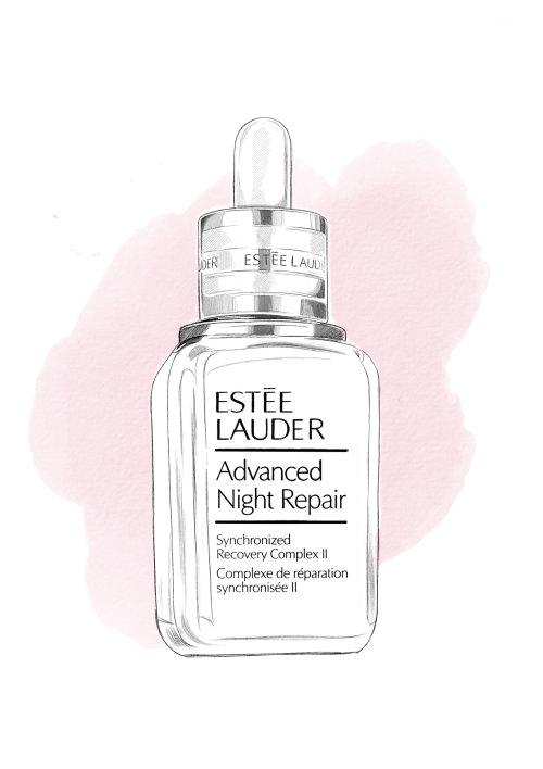 Digital painting of Estee Lauder advances night repair serum
