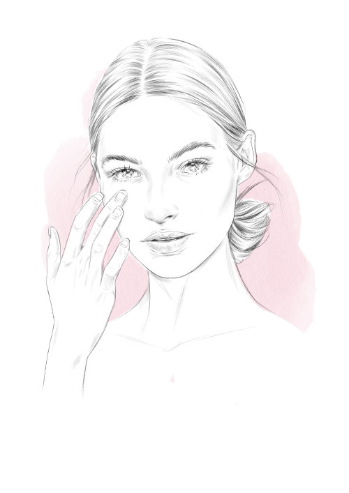 Line art as part of Estee Lauder Promotion