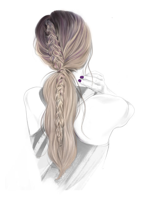 Ilustración contemporánea del color del cabello