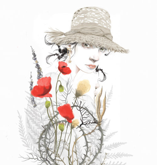 Floral beauty fashion illustration
