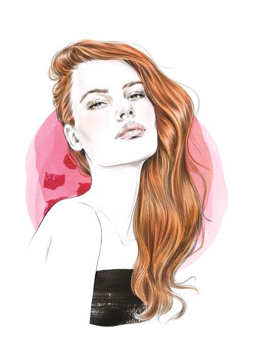 Long hair girl portraiture
