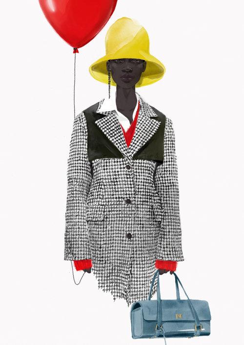 Award winning fashion figure illustration by Tracy Turnbull