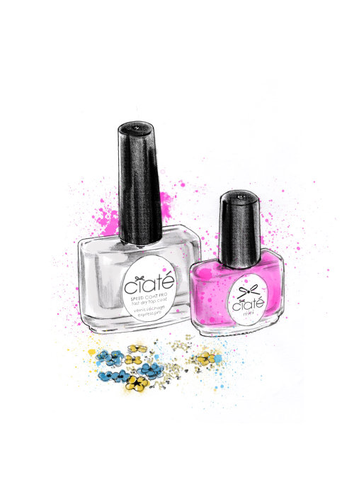 nail polish illustration | Ciate