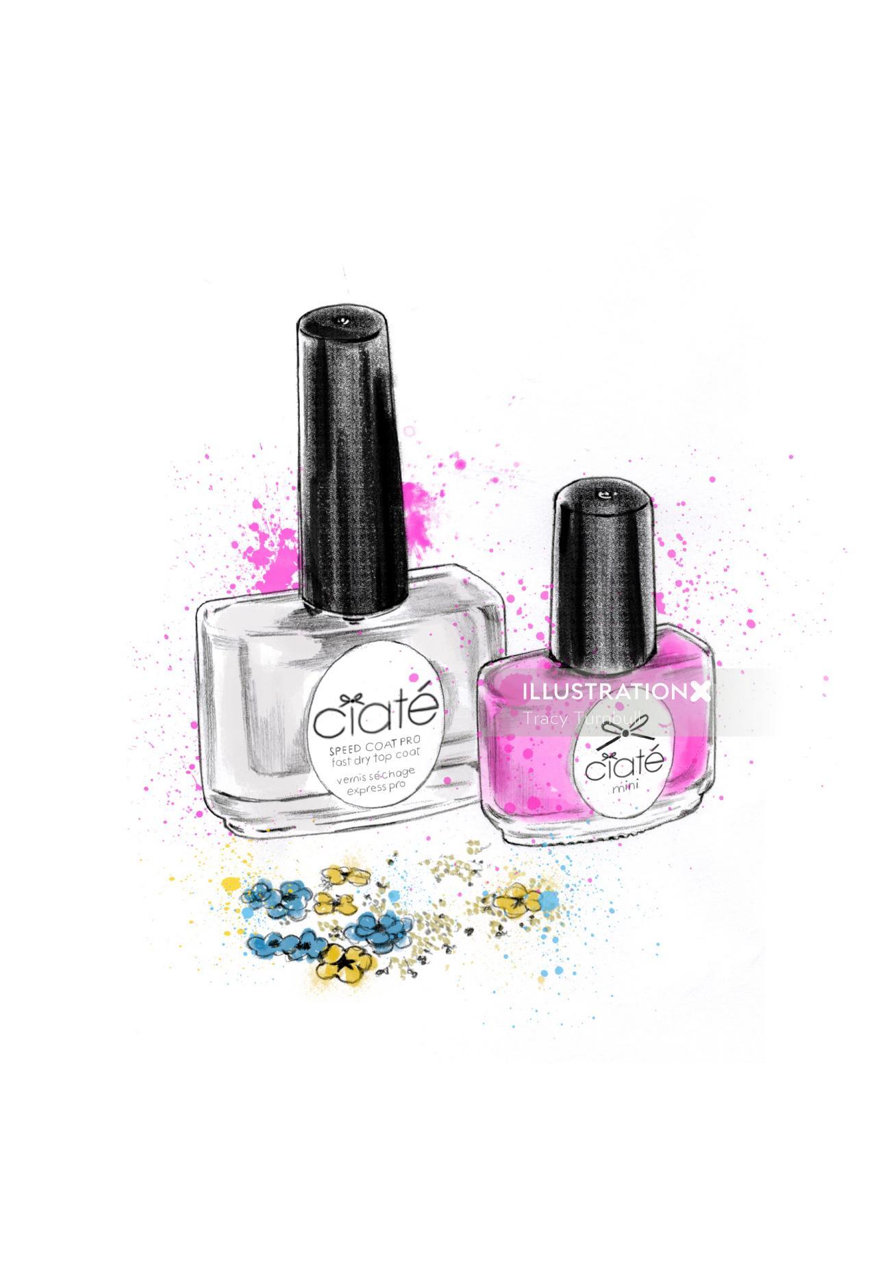 nail polish illustration   Ciate