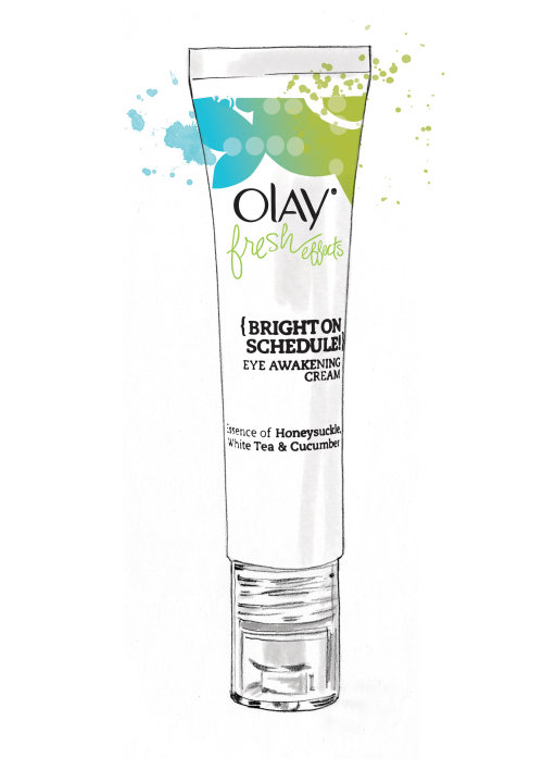 Ilustración de Olay Fresh Effects por Tracy