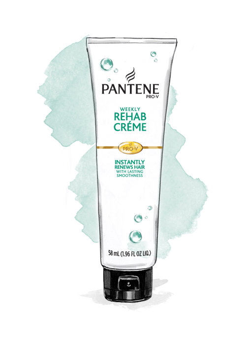 illustration of Pantene Rehab Creme by Tracy Turnbull