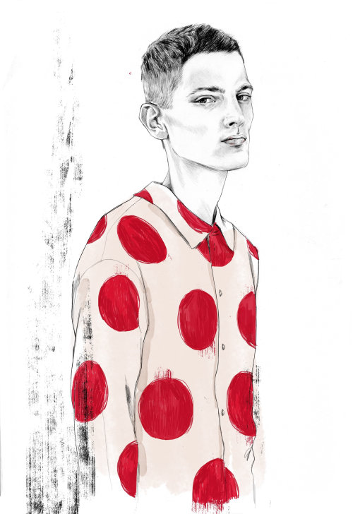 Young boy illustration by Tracy Turnbull